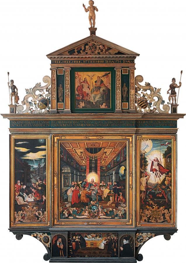 Altar aus der Mühlberger Klosterkirche, 1569 von Heinrich Göding