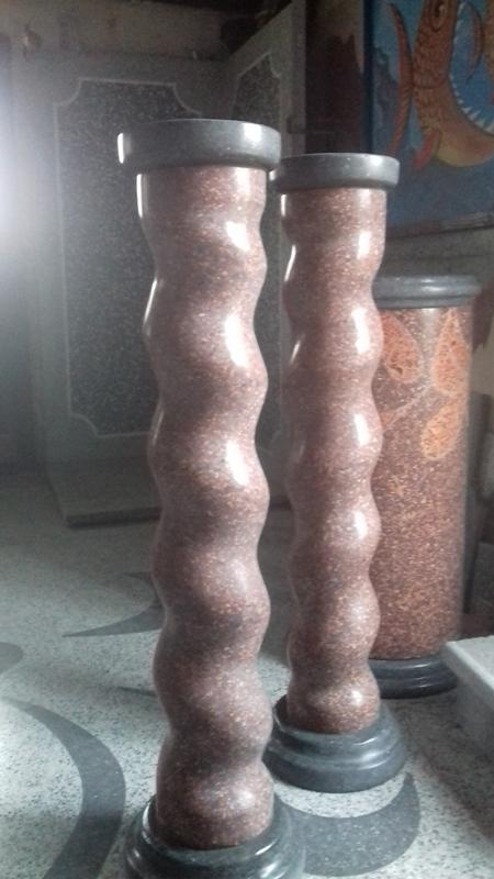 Säule2018 Terrazzoh= 115 cm; d= 19,5 cm