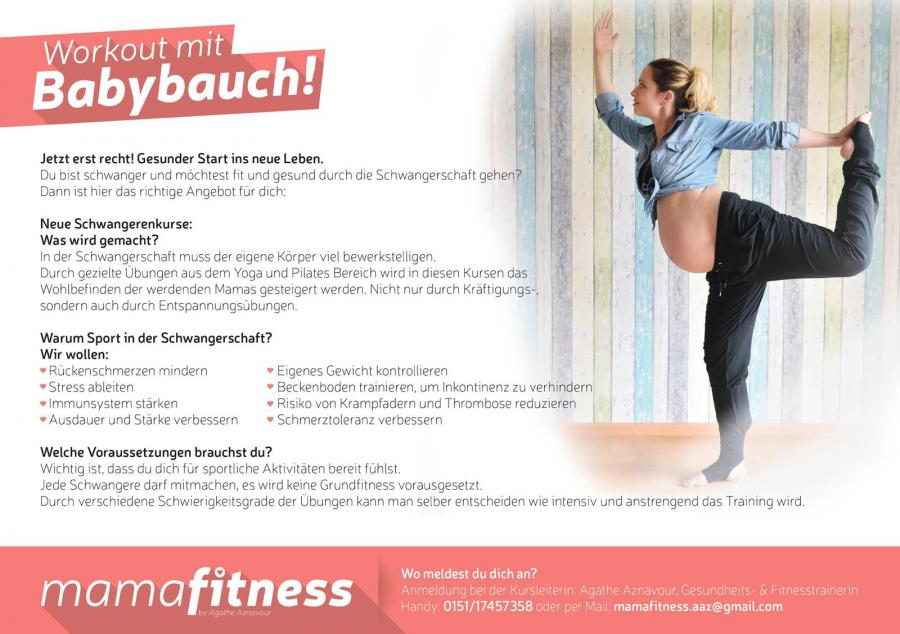 "Flyer ""Workout mit dem Babybauch"""