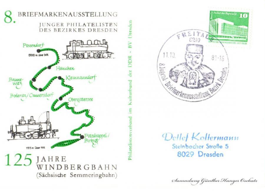 8. Briefmarkenausstellung  Junger Philatelisten des Bezirks Dresden