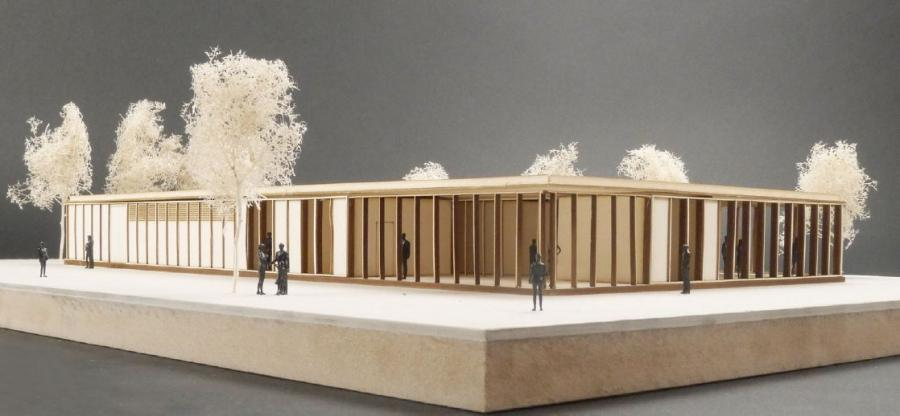 Model Sportgebäude
