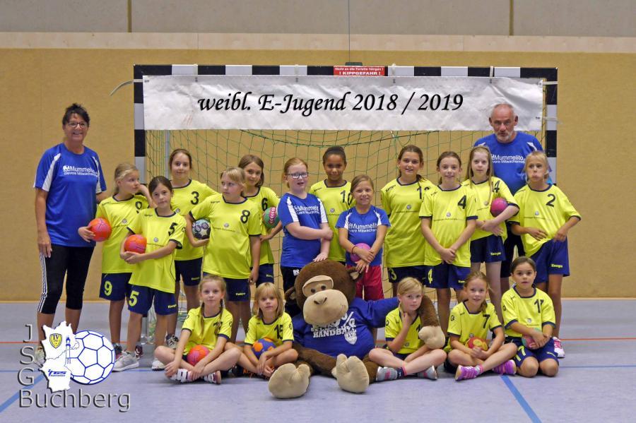 Mannschaftsbild wE-Jugend 2018/19
