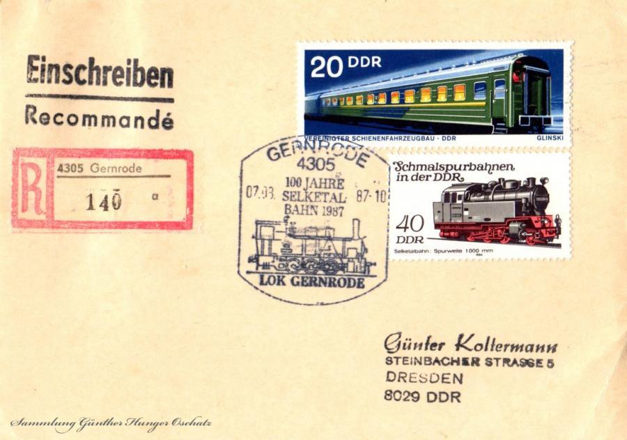 Postkarte  07.03.87