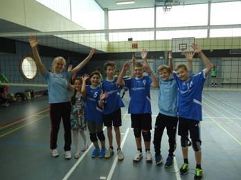 Unsere JuLi 4 Mannschaft mit Chiara Rekowski