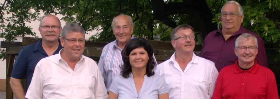 Das Team des Ortsgerichts Schenklengsfeld: v.l.n.r.: Hartmut Kuhn, Werner Kümmel, Horst Hannich (ausgeschieden), Edith Vollmer, Karl Reinhard, Willi Eiche, Kurt Wagner es fehlt: Martin Mannel