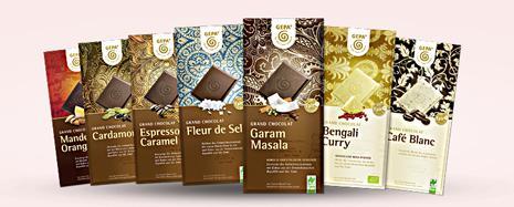 Einige Schokoladen aus unserem Angebot