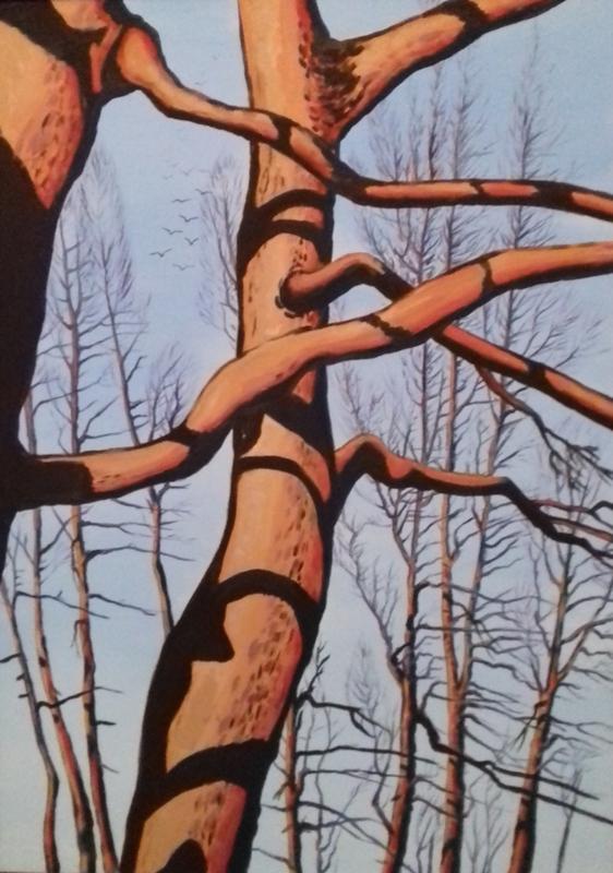 Baumgruppe   II2018 Öl/Acryl auf Leinwand   100 x 140 cm
