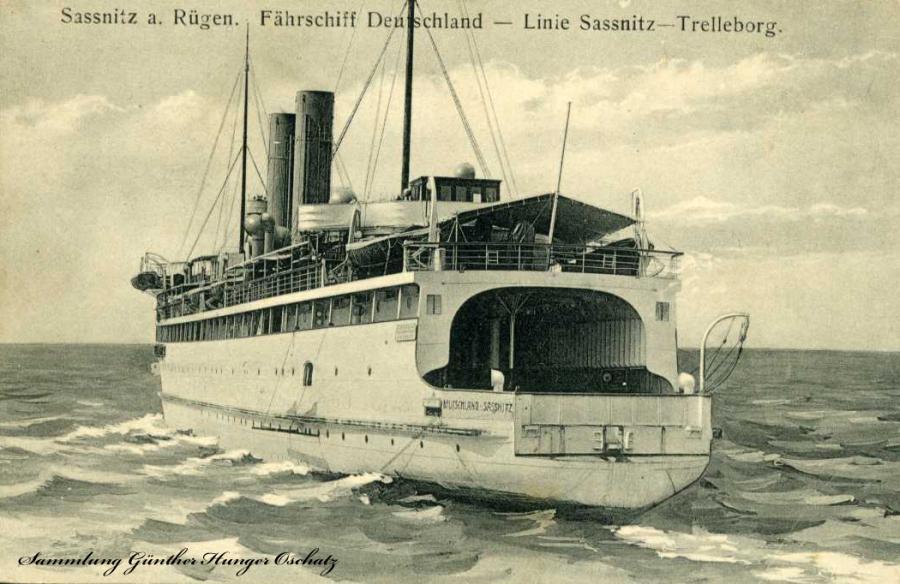Sassnitz a. Rügen Fährschiff Deutschland Linie Sassnitz-Trelleborg