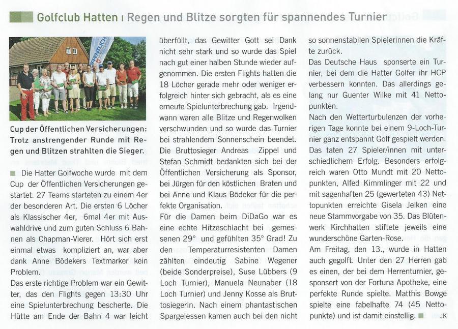 Golf Weser-Ems Sommer 2014