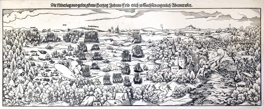 Schlacht bei Mühlberg, Druck, 1547
