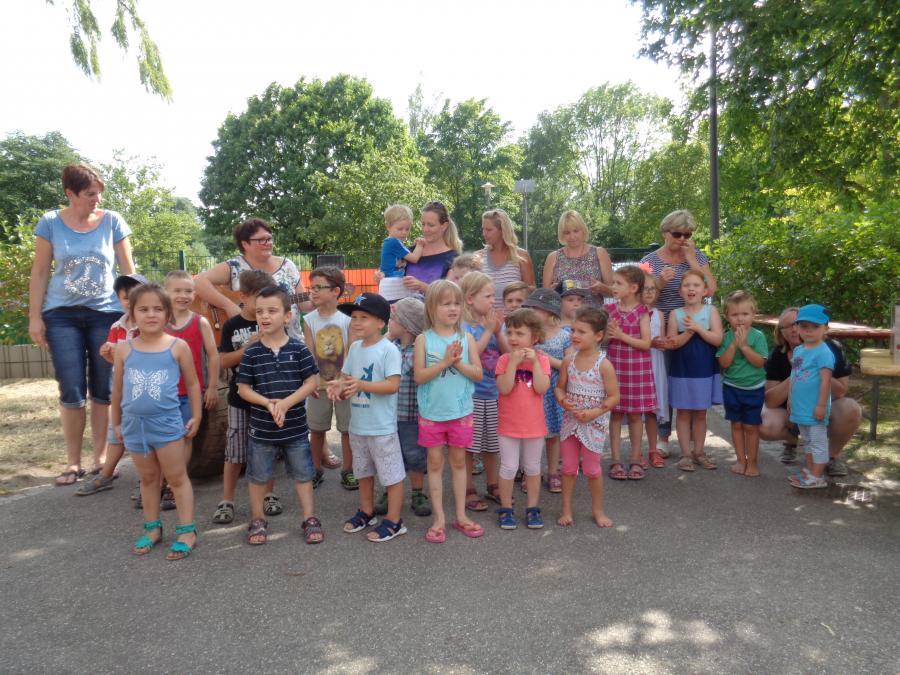 Grillfeier im Kindergarten Sonnenberg
