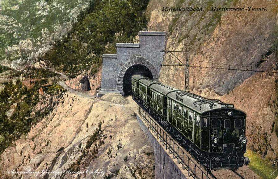 Mittenwaldbahn Martinswand-Tunnel