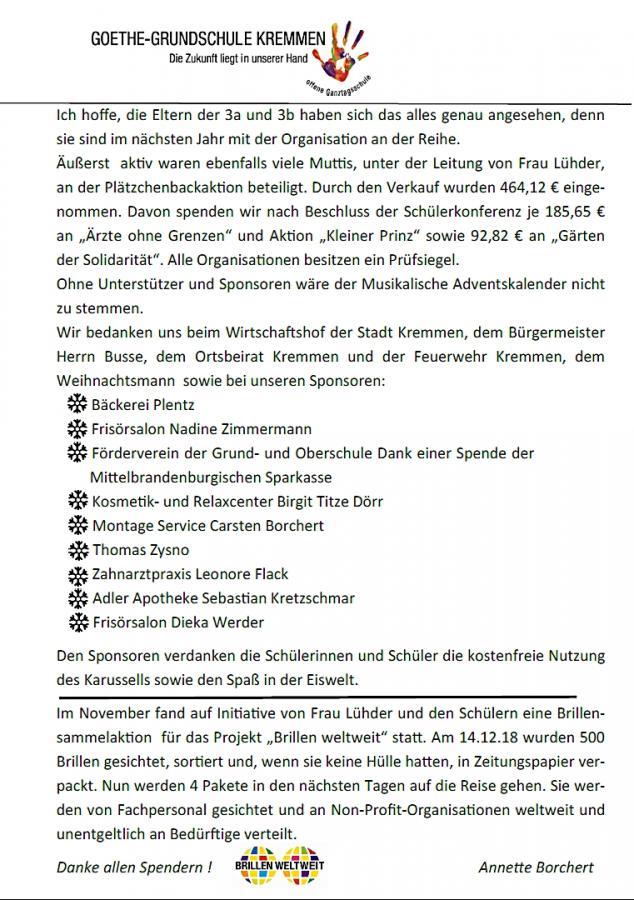 Schulnachrichten Winter 18/2