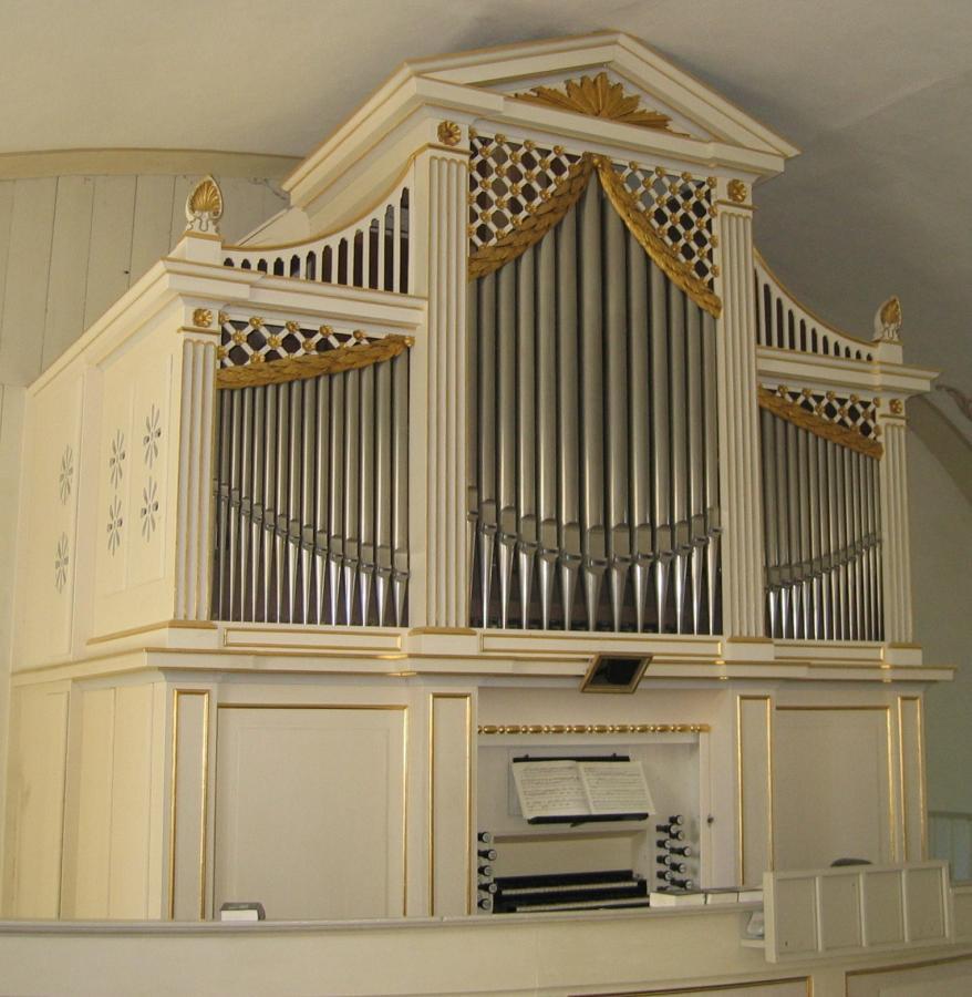Orgel - Kirche Dorfchemnitz / Foto: Jan Gernegroß