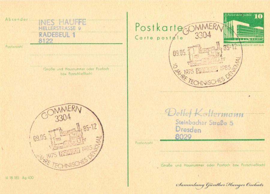 Postkarte carte postale 09.05.85