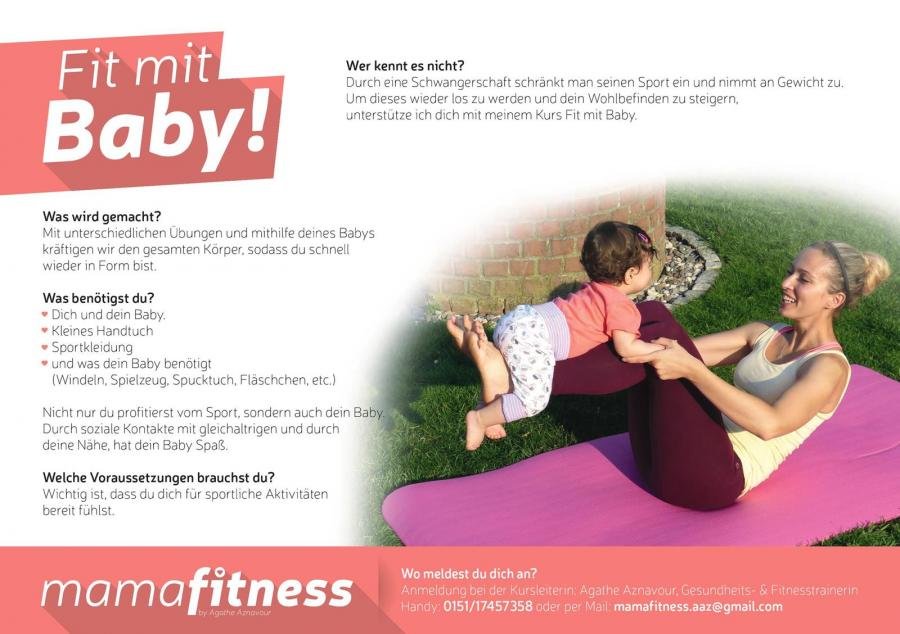 "Flyer ""Fit mit dem Baby"""