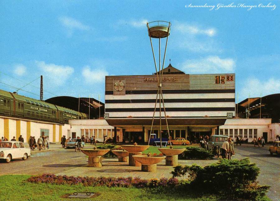 Halle Hauptbahnhof 1976