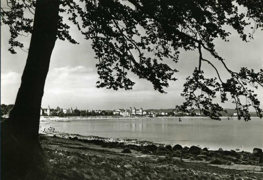 Blick auf Ostseebad Binz vom Südosten
