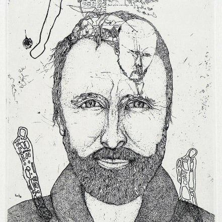Thomas Ranft. Porträt Michael Morgner, 1988 (Ausschnitt) Foto: Schirmer