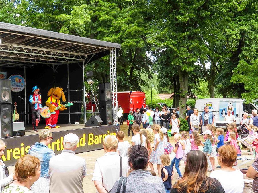 Ulf der Spielmann beim Regionalparkfest 2018 in Werneuchen