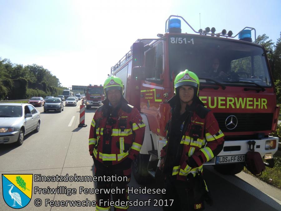 Einsatz 61/2017 | VU 4x PKW | BAB 10 AS Königs Wusterhausen - AS Niederlehme | 19.06.2017