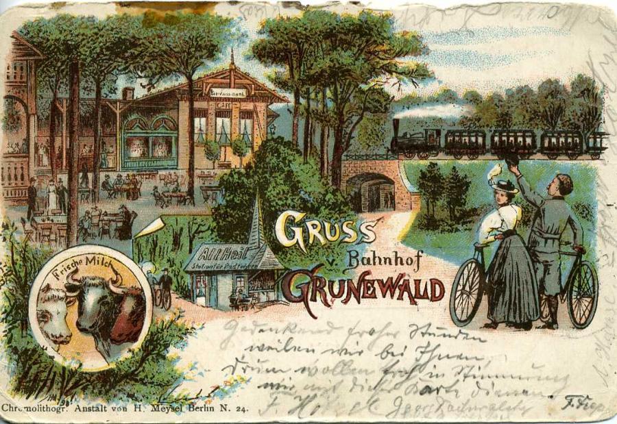 Gruss Bahnhof v. Grunewald 1899