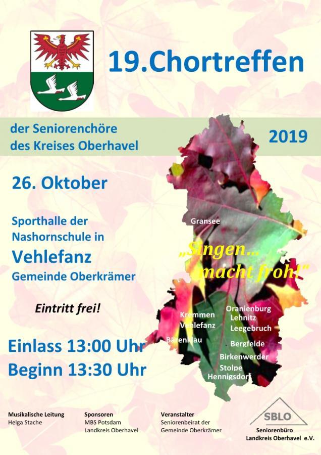 Plakat Chortreffen Vehlefanz 2019
