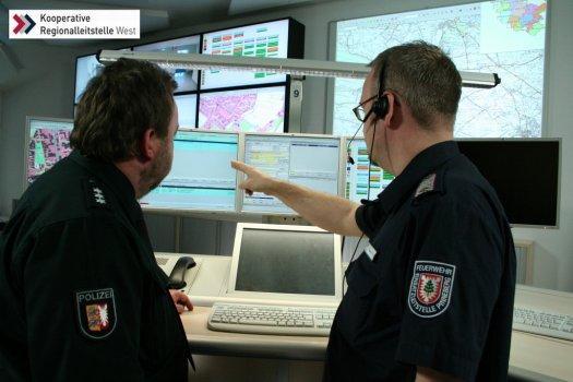 Kooperative Regionalleitstelle West in Elmshorn - Zusammenarbeit mit der Polizei