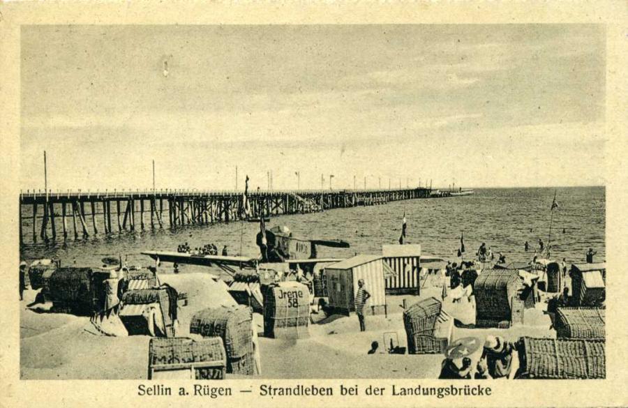 Sellin bei der Landungsbrücke 1926