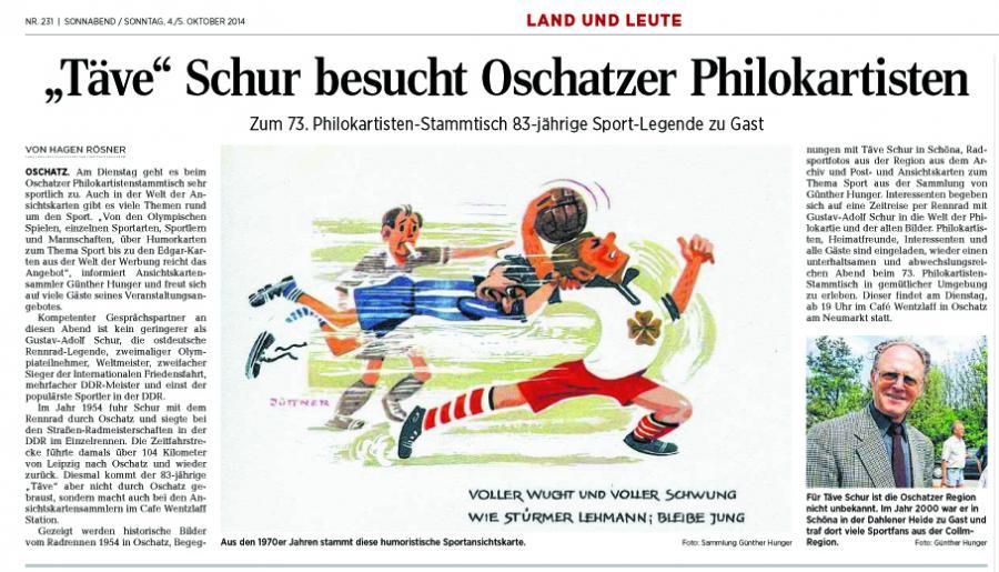 OAZ 4.10.2014 Täve Schur