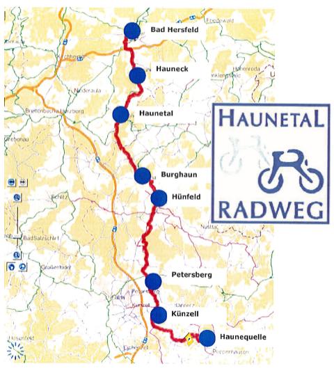 Der neue Haunetal-Radweg