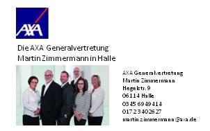 Visitenkarte AXA