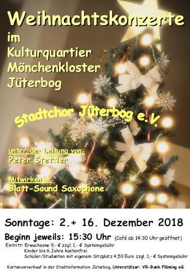 Plakat Weihnachtskonzerte 2018