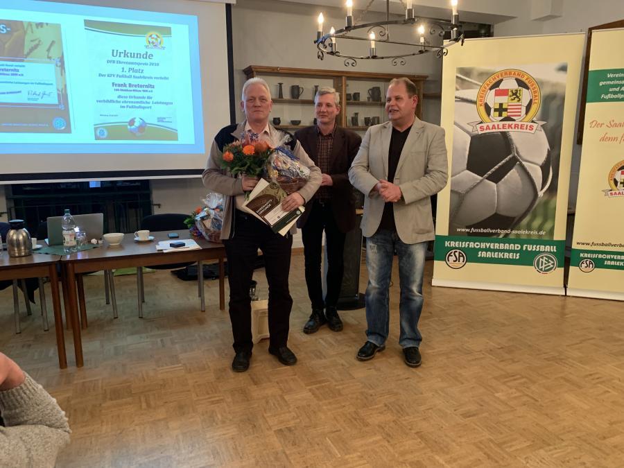 DFB-Ehrenamtspreisträger 2018 Frank Breternitz (1. Platz)