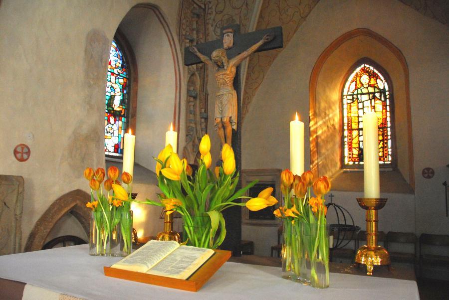 Altar in der Mauritiuskirche