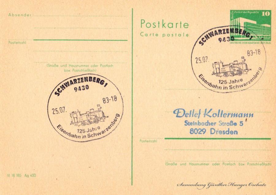 Postkarte carte postale 25.07.83