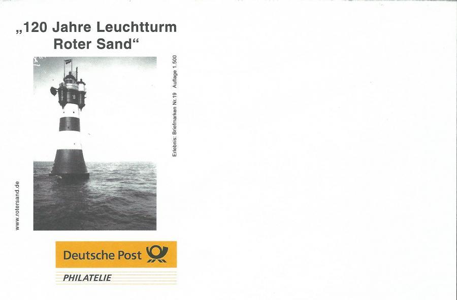 4504-120 Jahre Leuchtturm Roter Sand-Umschlag