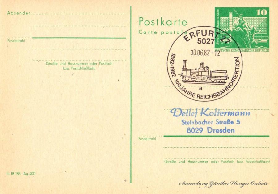 Postkarte carte postale  30.06.82