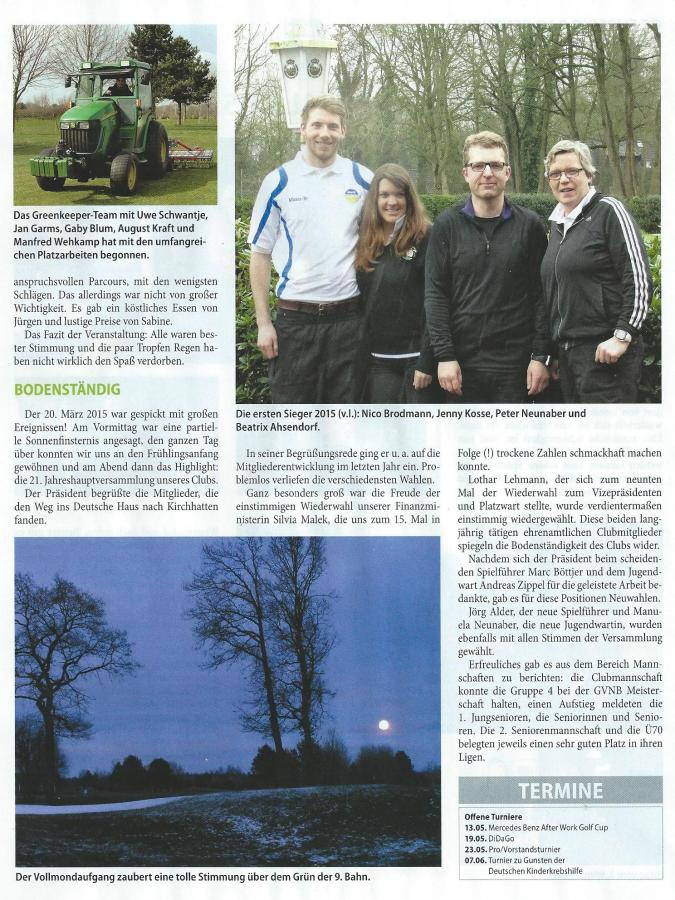 GOLF Club-Magazin 1-2015