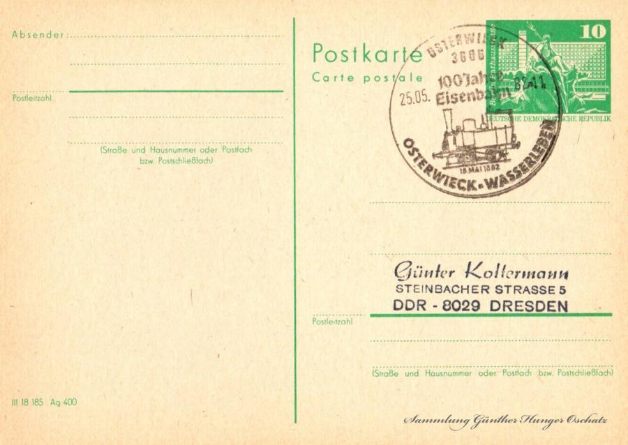 Postkarte carte postale  25.05.82