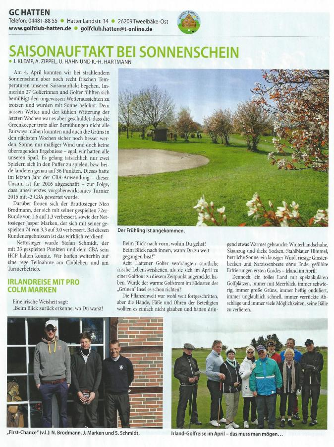 GOLF Club Magazin 2-2015