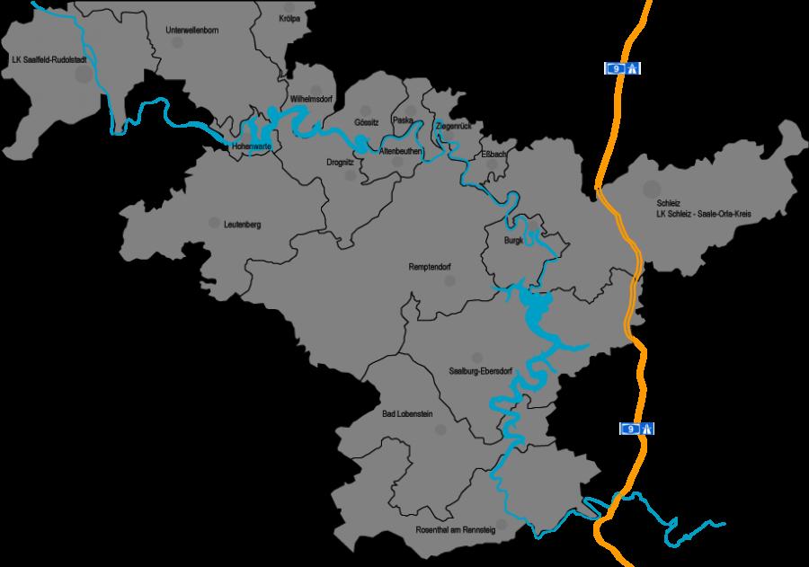 Karte KAG Thüringer Meer