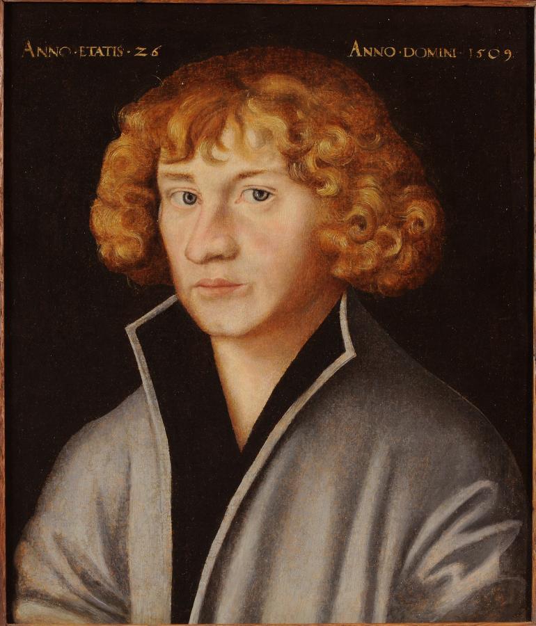 Georg Spalatin führte die Reformation in Mühlberg ein, Gemälde von Lucas Cranach, 1509