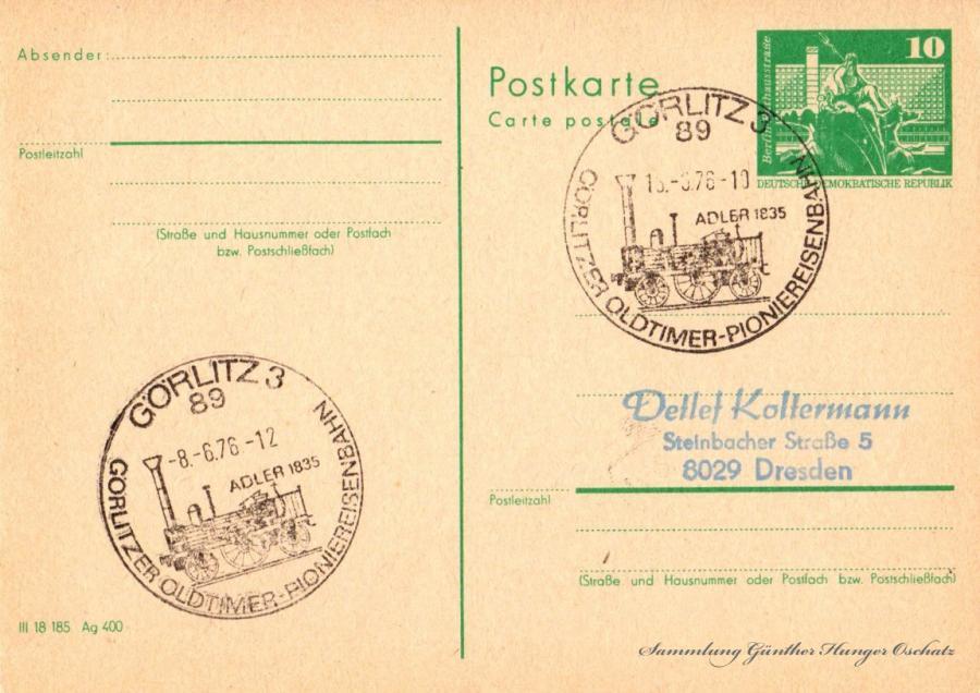 Postkarte carte postale  13.3.76