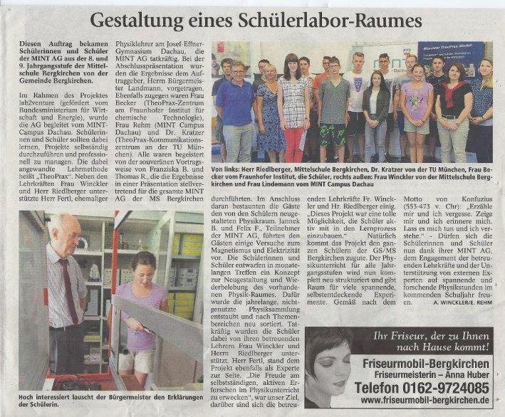 Schülerforschungszentrum Dachau TheoPrax