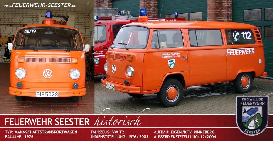 Einsatzleitwagen/Mannschaftstransportwagen VW T2 von 1976