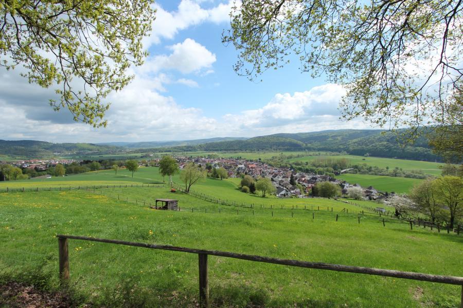 Blick vom Giegenberg auf Friedlos und ins Fuldatal