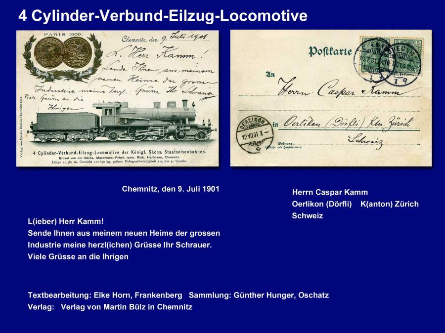 4 Cylinder-Verbund-Eilzug-Locomotive