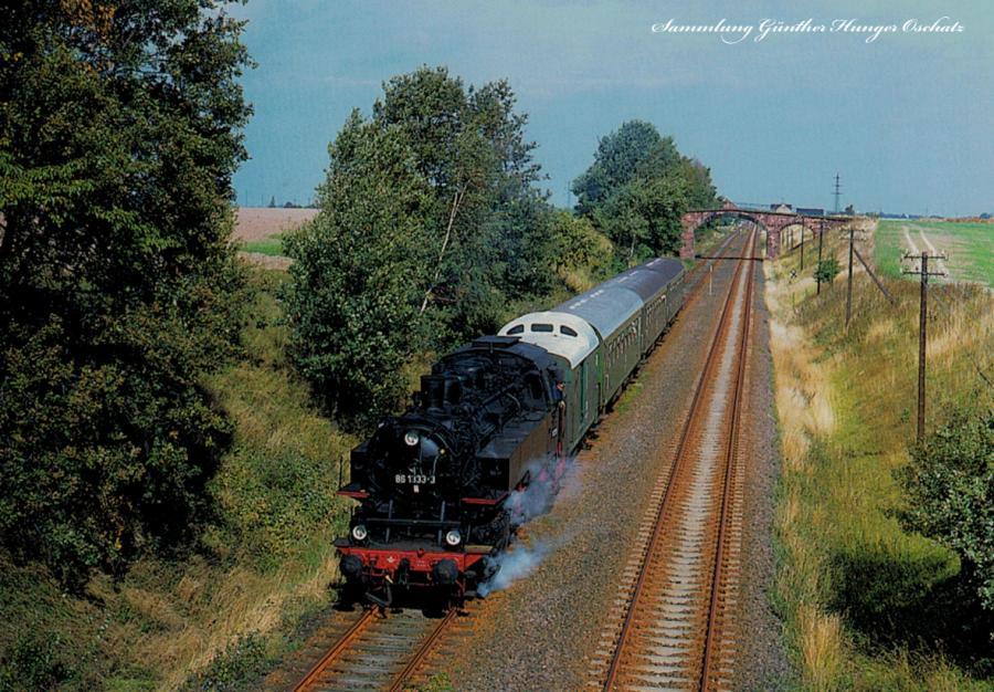 Güterzugtenderlokomotive 86 1333 mit einem Sonderzug