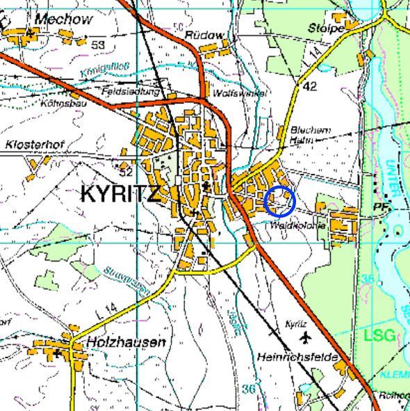 Abb.: Lage des Plangebietes, ohne Maßstab